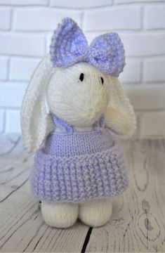 BUNNY BAGGLES SOFT TOY KNITTING PATTERN CUTE RABBIT HANGING BAG TO MAKE YOURSELF