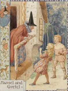 Hansel and Gretel.  Margaret W- Tarrant                                                                                                                                                                                 Plus