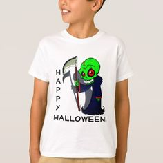 "#Grim Reaper ""Happy Halloween"" T-Shirt - #Halloween happy halloween #festival #party #holiday"