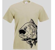 T-Shirt mit Fisch Druck schwarz  Angler T-Shirt Fisch. Das Angler T-Shirt ist in den Größen S-3XL erhältlich. Auf dem T-Shirt ist ein Fisch abgebildet. / mehr Infos auf:  www.Guntia-Militaria-Shop.de