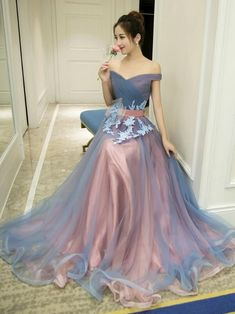 17b67f244 Charming Prom Dress,Elegant Prom Dress,Tulle Eveing Dress,Long Homecoming  Dress from lass