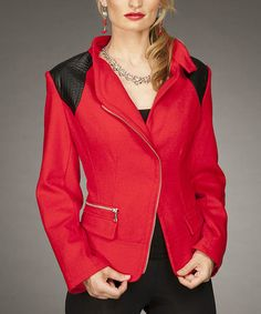 Take a look at this Red Blazer by Firmiana on #zulily today!