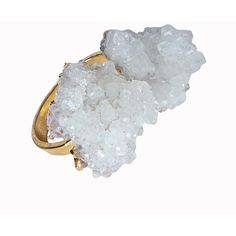 Helix and Felix Gold Plated White Healing Crystal Ring ($27) ❤ liked on Polyvore featuring jewelry, rings, white, white crystal rings, crystal rings, wrap around ring, crystal stone rings and crystal jewelry