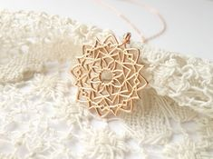 #jewellery #pendant #Gold #rose #mandala #fashion