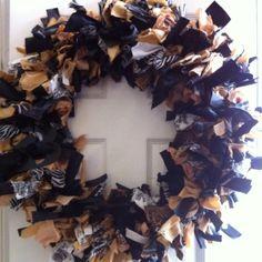 My Saints fabric wreath