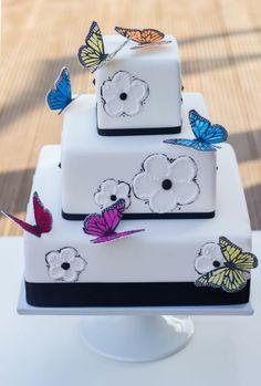 Schmetterling Hochzeitstorte www.suess-und-salzig.de  www.sweet-candy-table.de weddingcake butterfly