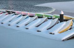 Snowy Boats | #CambridgeMA #CambMA