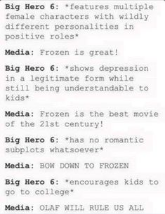 I like big hero 6 more than frozen