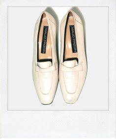 Maud Frizon bone leather loafers