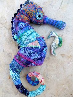 A Mermaid's Ride aka Mr. Seahorse - Art Doll Swap craftster made by wise one