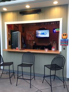 Tuff Shed turned Bar Shed next to a pool. Nice!