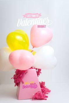 Confetti Sunshine: DIY Customized Valentines Bouquet