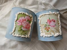 Tin Can Crafts, New Crafts, Diy And Crafts, Candle Craft, Altoids Tins, Decoupage, Art Tutorials, Altered Art, Upcycle
