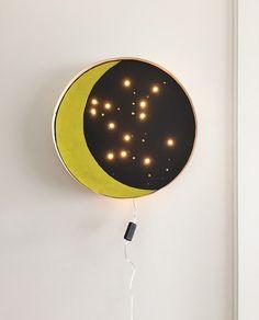 lámpara luna de leds