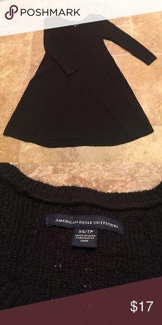 American Eagle Knit Shift Dress Like new! Cozy 3/4 Sleeve Knit material, shift style American Eagle Outfitters Dresses Mini