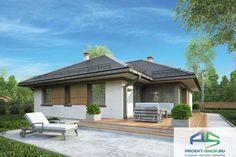 Проект жилого дома D33 My House Plans, Backyard, Patio, Gatsby, House Design, How To Plan, House Styles, Outdoor Decor, Studio