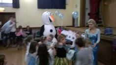 Elsa & Olaf at a kiddies party the children really love them.