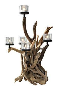 UNIKAT! Treibholzleuchter Kerzenständer