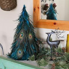 Hackle-Peacock Eye Feather Tree Product SKU: TRHP18G--DKT-N-CPR Shop Feathers: www.featherplace.com