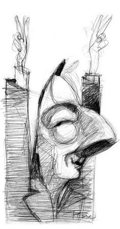 Néstor Kirchner Nestor Kirchner, Caricature, Deco, Llamas, Popular, Stickers, Tattoo, Portraits, Paintings