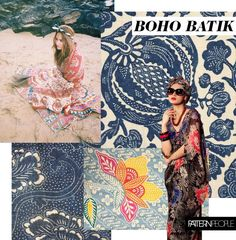 Straight from Pattern People's studio, the boho batik print trend brings a beachy update to Winter's ethnic pattern directions.