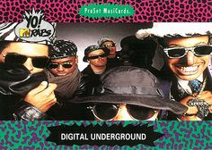 Yo! MTV Raps. ProSet MusiCards. #17. 1991. Digital Underground.