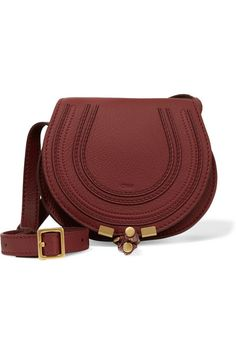 Burgundy textured-leather (Calf) Tab-fastening front flap Comes with dust  bag 205f50dcda