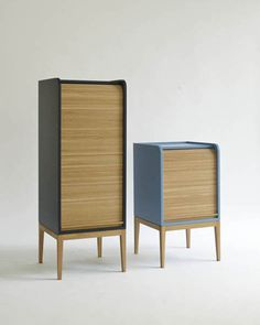 Tapparelle Cabinets - Emmanuel Gallina for Italian design label Colé Furniture Making, Office Furniture, Home Furniture, Modern Furniture, Furniture Design, Handmade Wood Furniture, Buffet, D 40, Small Cabinet