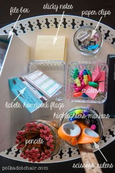 diy School Supplies homework station - Back to School Hacks: Going Back to School Without Going Crazy Back To School Hacks, Going Back To School, Middle School, High School, College School, Back To School Organization Highschool, School Teacher, College Life, Homework Box
