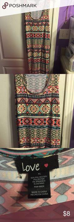 Aztec print maxi dress Size XL Aztec print dress stretch material Dresses Maxi