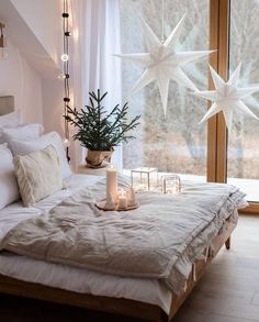 Scandinavian Decor on Love this magical bedroom by annamichaliszyn Good night all . Magical Bedroom, Cozy Bedroom, Bedroom Inspo, Master Bedroom, Bedroom Decor, Ikea Bedroom, Bedroom Furniture, Bedroom Ideas, Modern Bedroom