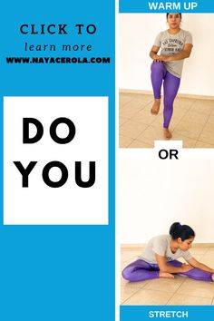 click the link to learn more about it! do you warm up or do you stretch before your workout? believe it or not most people confuss these two. Is important to know the difference to avoid injuries At Home Workouts For Women, Beginner Workout At Home, Workout For Beginners, Stretching Exercises, Stretches, Different, Fun Workouts, Fit Women, Flexibility