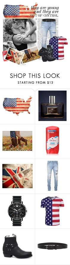 """out of control"" by sasane ❤ liked on Polyvore featuring Slippin' Southern, American Eagle Outfitters, Chanel, Old Spice, Balmain, Movado, GRINDERS, HUGO, Alex and Ani and men's fashion"