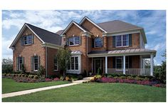 Columbia by Toll Brothers at FoxCreek - The Estates Collection - Like the wrap around porch