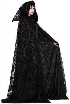 This Witch & Wizard Midnight Cloak includes one cape. Use the Witch and Wizard Midnight Cloak this Halloween to turn your costume into something exciting, memor Halloween Fancy Dress, Halloween Kostüm, Halloween Costumes, Ghost Costumes, Vintage Halloween, Halloween Makeup, Vintage Witch, Fantasy Costumes, Wizard Costume
