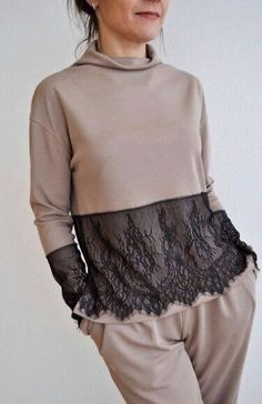 3d Fashion, Hijab Fashion, Fashion Dresses, Womens Fashion, Fashion Design, Diy Clothes, Clothes For Women, Refashioned Clothes, Crop Top Sweater