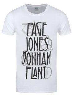 14d3e9e55f851 Led Zeppelin – Page Jones Bonham Plant Men s White T-Shirt
