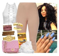 """""""✨"""" by saucinonyou999 ❤ liked on Polyvore featuring Chanel, NIKE and Lacoste"""