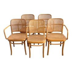 Image of Prague Bentwood Cane Chairs - Set of 5