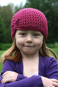 crochet butterfly free hat pattern - this pattern is easy and works up really quick. nice for a last minute gift. -abi