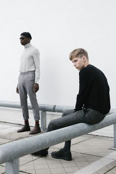 Less is a part of luca's line of free work, it's based on clothing of COS and how less can actually be more. The models are Boris Lutters & Passian Smit.
