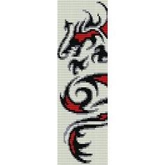 CELTIC DRAGON - beading cuff bracelet pattern for peyote (buy any 2 patterns - get 3rd FREE)