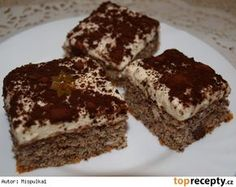 Bezlepkové makové řezy Tiramisu, Gluten Free, Ethnic Recipes, Desserts, Food, Glutenfree, Tailgate Desserts, Deserts, Essen