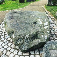 St. Patrick's Grave County Down.    #ireland #saintpatricks #stpaddy #history #grave #history #twitter #grave #downpatrick #followme #snakes #iphone6s #tourist #daytrip #patrick #stpatrick #followers #rock #headstone