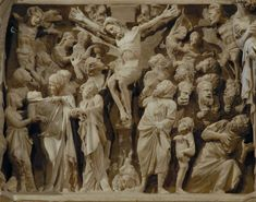 The Crucifixion from the Pulpit of Sant' Andrea, Pistoia, by Giovanni Pisano.