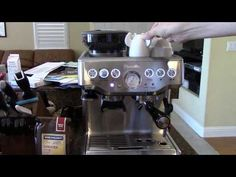 Logan makes a simple espresso on the Breville Barista Express and demonstrates the machine. It's getting the opportunity to look. Breville Espresso Machine, Espresso Machine Reviews, Best Espresso Machine, Sumatra Coffee, Barista, My Love, Logan, Youtube, Kitchen Gadgets