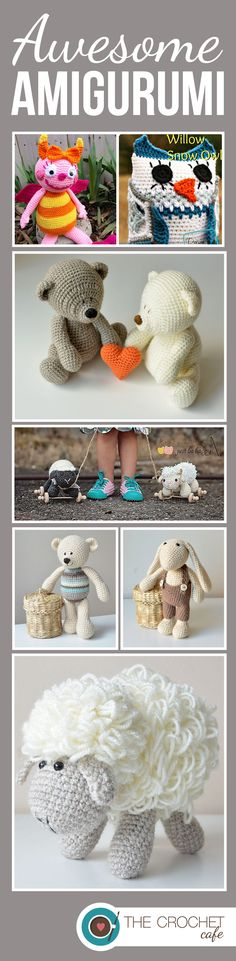Crochet patterns for awesome amigurumi designs