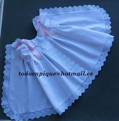 temporada 2015 Faldones en piqué para bebé Preemie Clothes, Baby Doll Clothes, Sewing Clothes, Little Girl Dresses, Girls Dresses, Angel Gowns, Frocks For Girls, Baby Kind, Baby Sewing