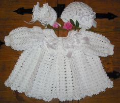 I have to find someone who can crochet! Crochet Baby Sweaters, Crochet Baby Cardigan, Baby Girl Sweaters, Crochet Baby Clothes, Baby Knitting, Crochet Dresses, Crochet Bebe, Baby Girl Crochet, Crochet For Kids
