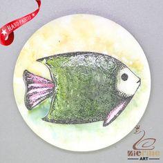 CHARMING FRIDGE MAGNET FISH WALL DECOR DIY WHITE STONE ZR3000263 #ZL #FridgeMagnet